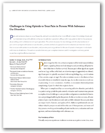 NIDA - Treating Pain in Persons With Substance Use Disorders
