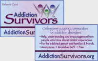 Addiction Survivors Referral Cards
