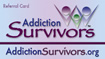 Addiction Survivors Peer Support Referral Card (front)